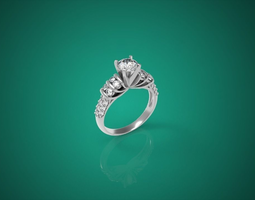 Diamond Ring nnjw 2 3D Model