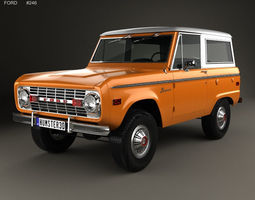 Ford Bronco 1975 3D