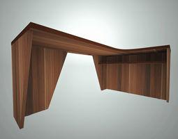 office corner table 3D asset