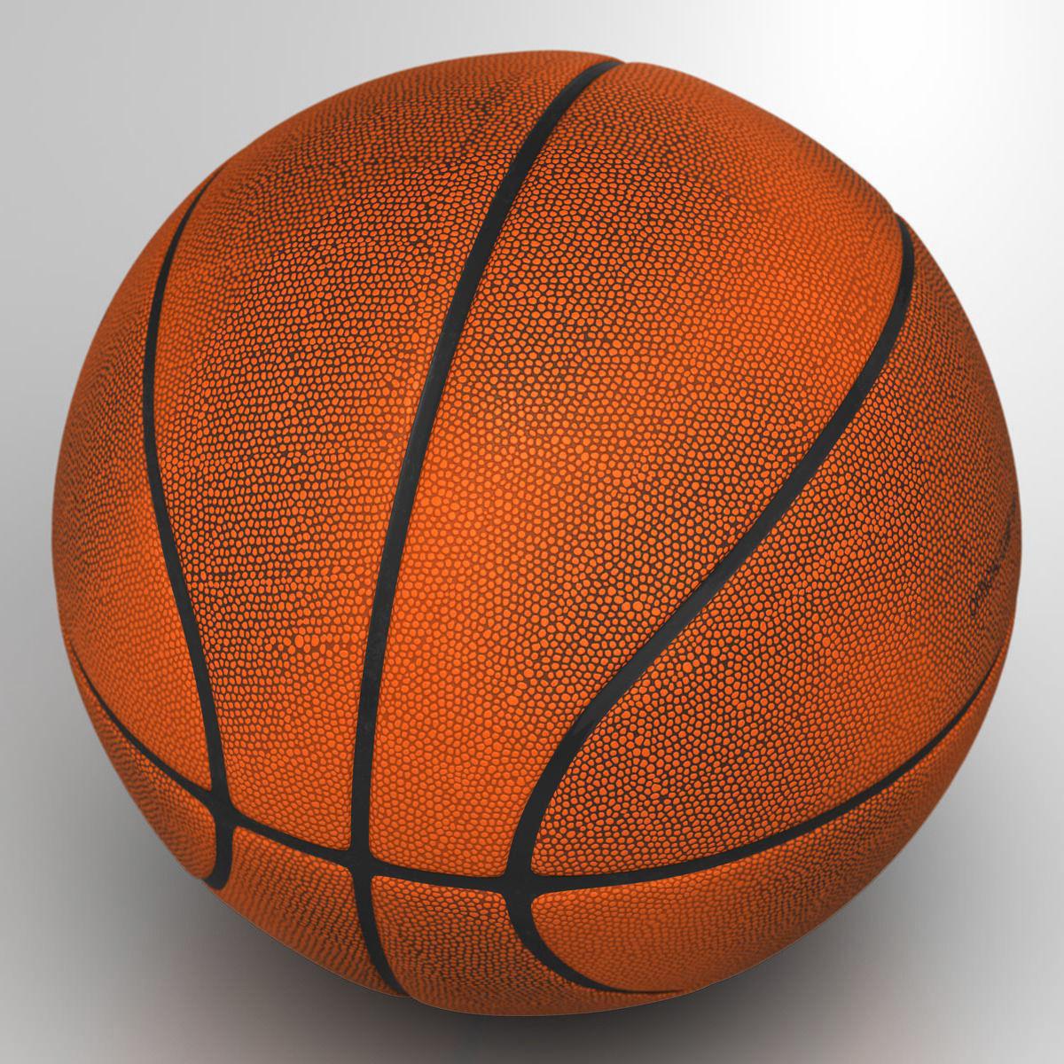 3D model Orange basketball ball VR / AR / low-poly MAX OBJ ...