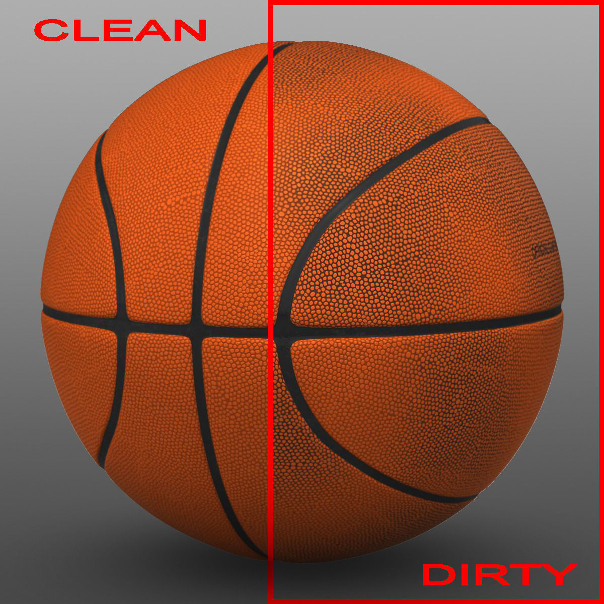 3D model Orange basketball ball VR / AR / low-poly MAX OBJ ...