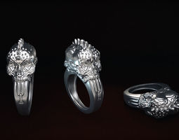Punk Rings 3D printable model