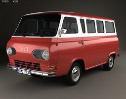 3D model E-Series Falcon Club Wagon 1963