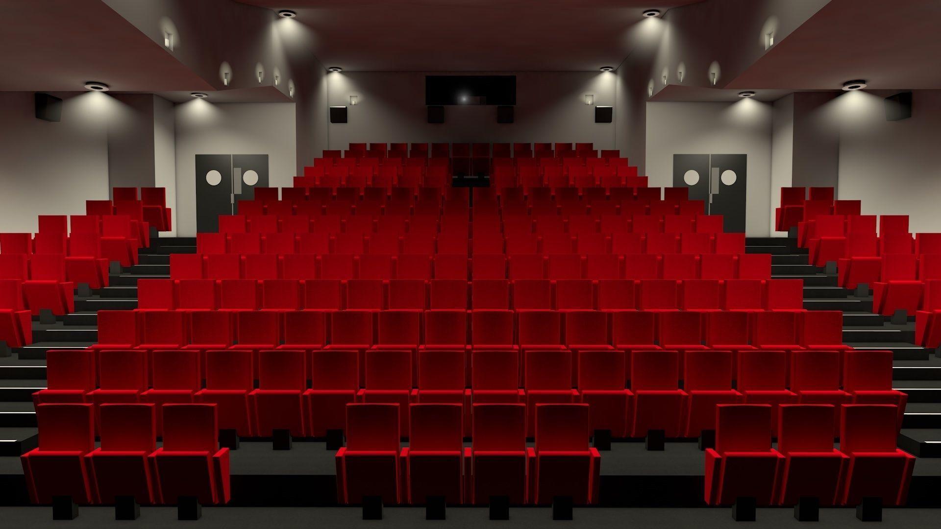Movie theater interior | 3D model