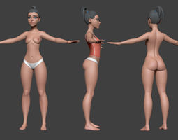 3D asset Stylized Female