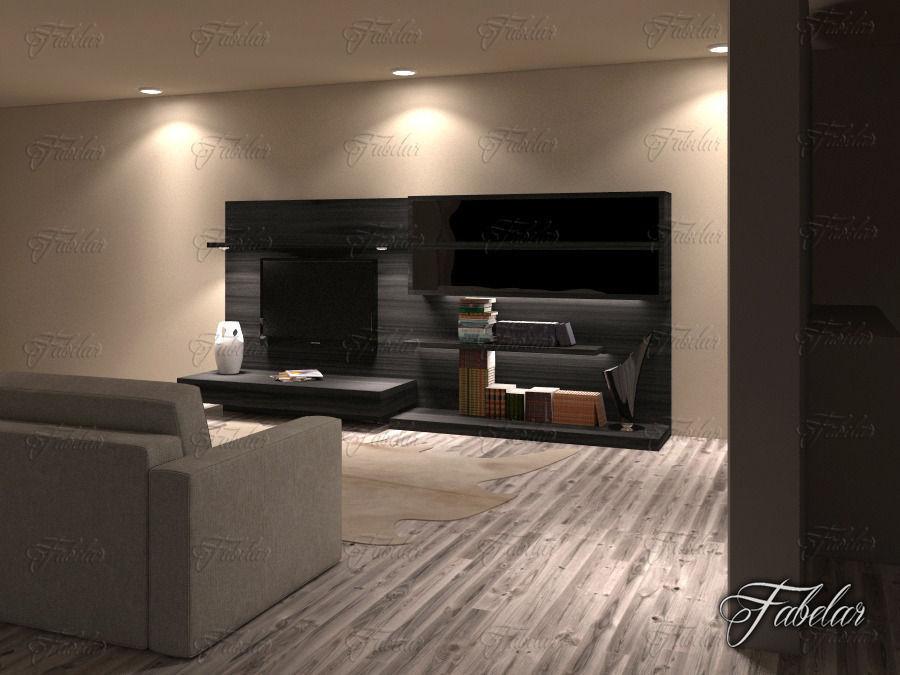 Living Room 19 Night 3d Model Max Obj Fbx C4d Dae 2
