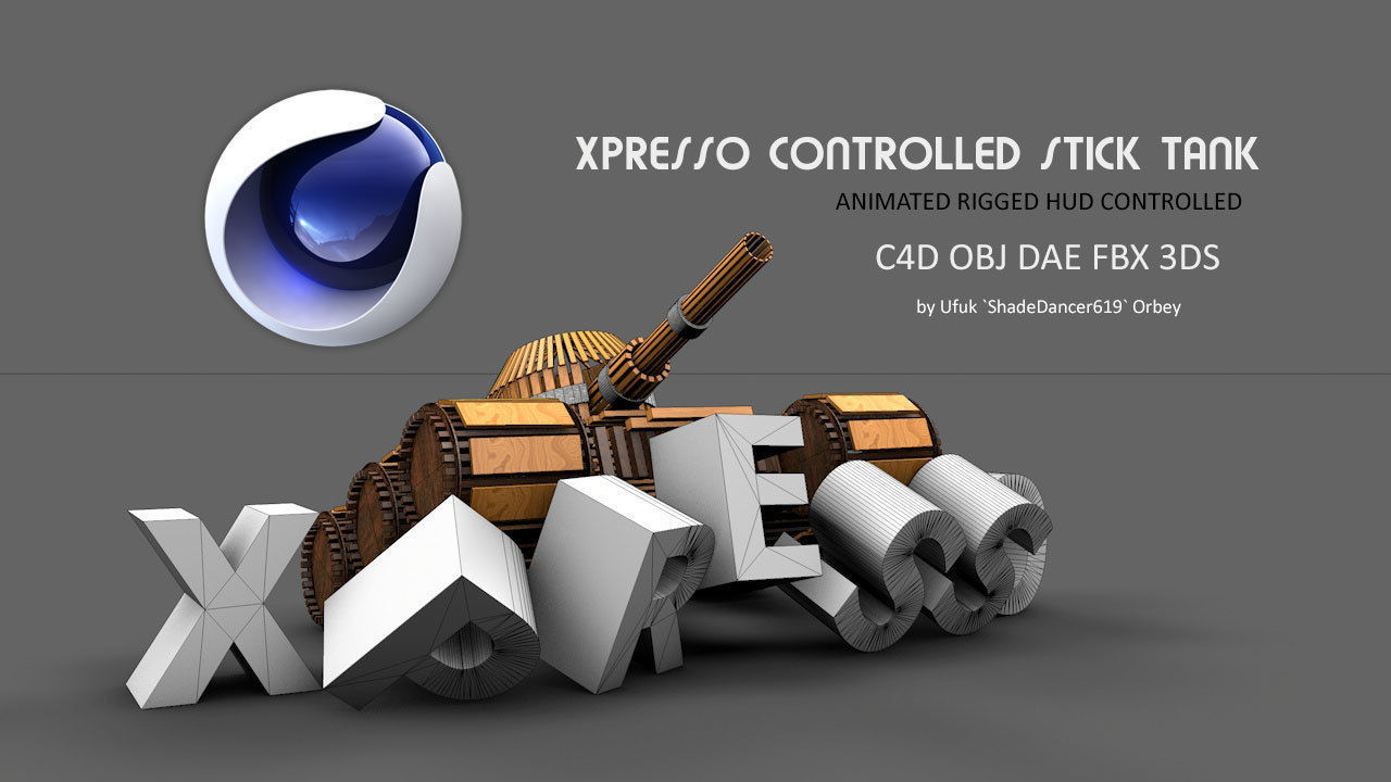 3D model LowPoly Animated Stick Tank | CGTrader