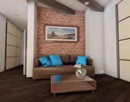 SCG Interactive Interior - Modern Japanesse style 3D model