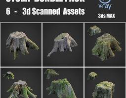 3D asset Stump bundle pack
