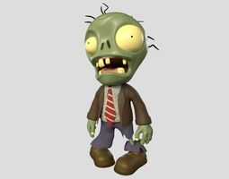 3D asset Plants vs Zombies Basic Zombie