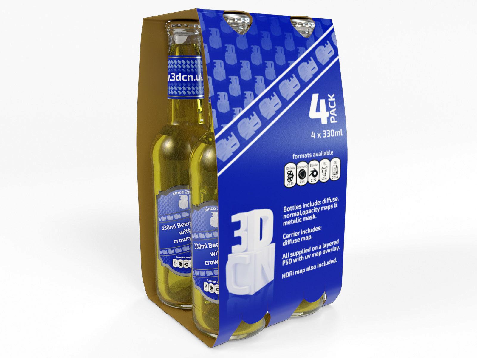 4 pack beer carrier 330ml