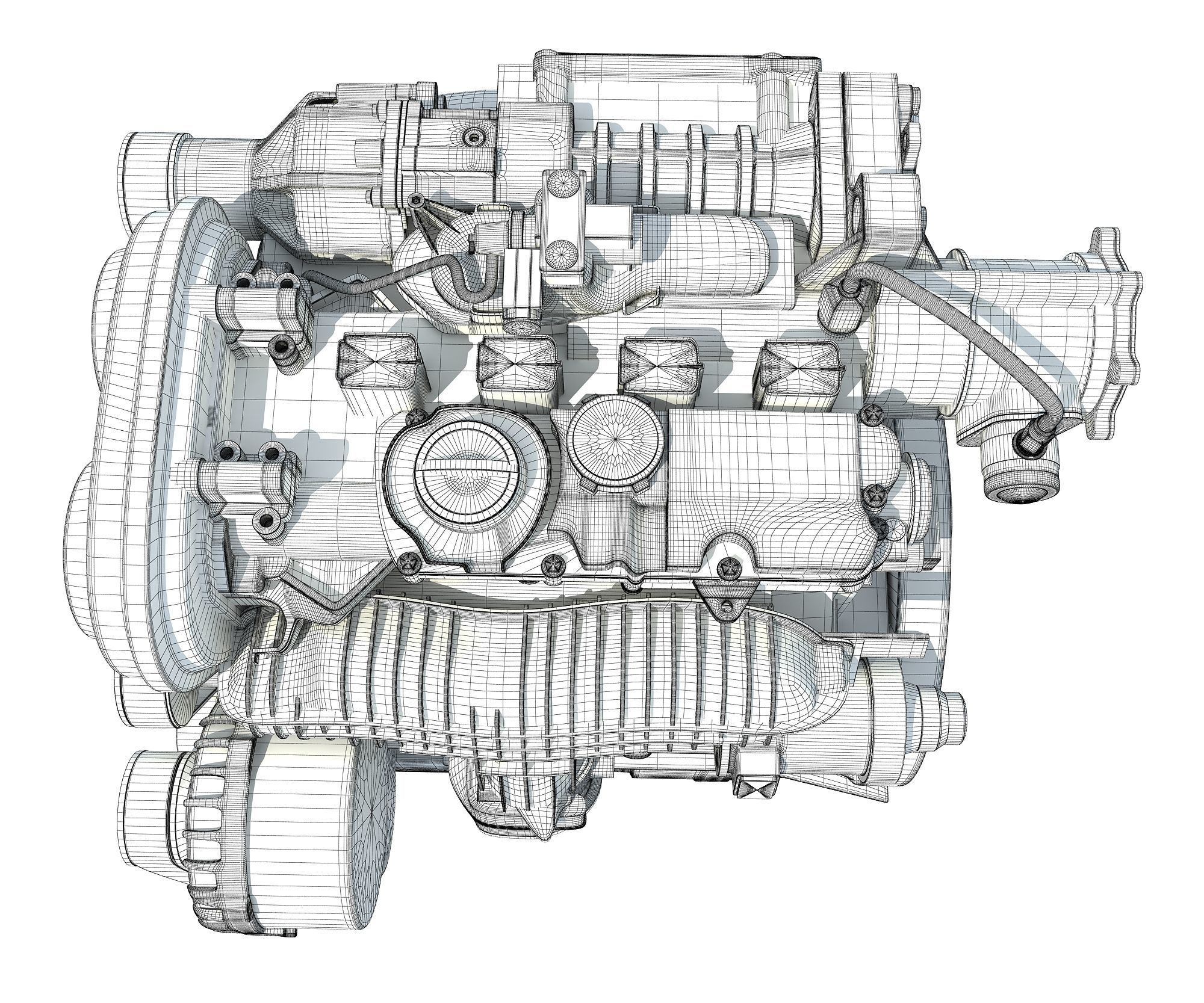 Car Engine 3D model | CGTrader