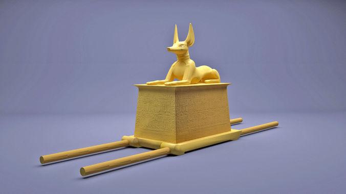 egyptian anubis shrine tutankhamun  3d model max obj mtl 3ds fbx 1