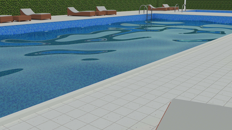 Swimming Pool Scene 3d Model Obj Blend Dae