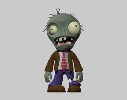 Plants vs Zombies Basic Zombie HighPoly 3D model