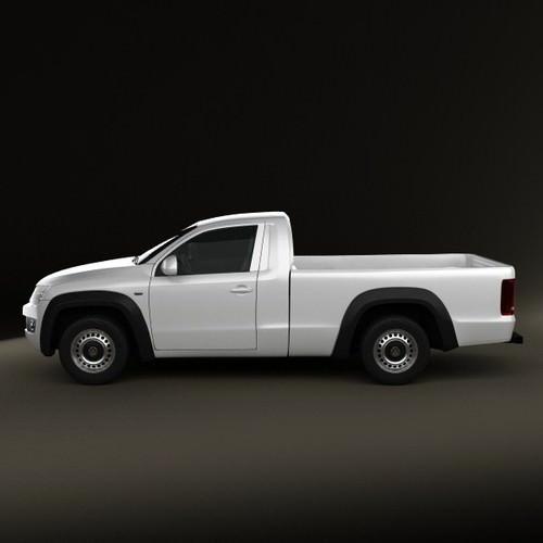 volkswagen amarok single cab 2010 3d model max obj 3ds. Black Bedroom Furniture Sets. Home Design Ideas
