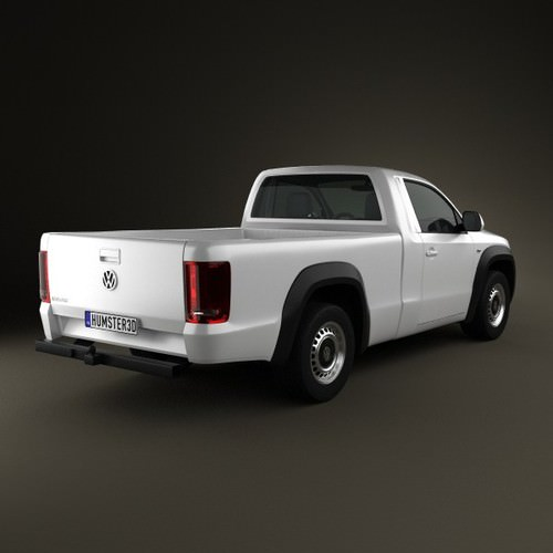 volkswagen amarok single cab 2010 3d model max obj 3ds. Black Bedroom Furniture Sets. Home Design Ideas
