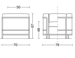 armchair lc2 3D model