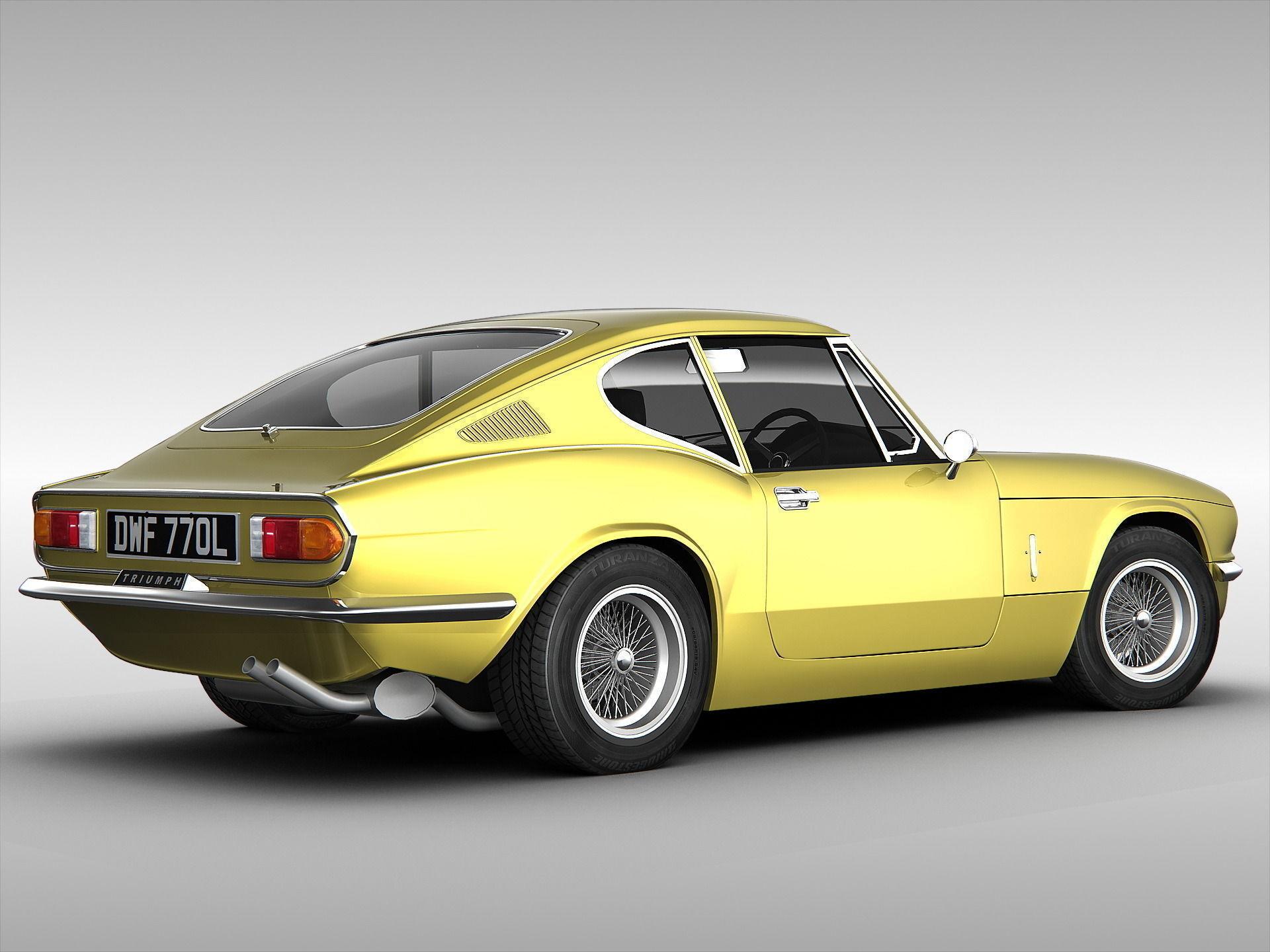 Triumph Gt6 Mk3 1973 3d Model Max Obj 3ds Cgtrader Com
