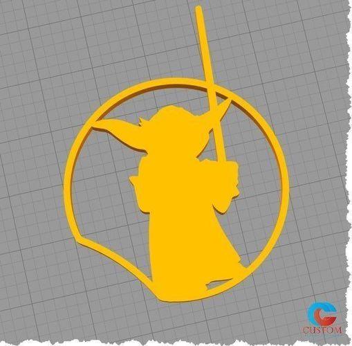 disney inspired mouse ear - star wars - yoda - 3d print model 3d model stl 1