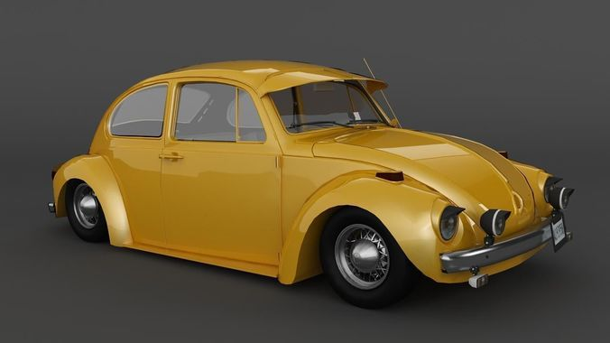 beetle 1970 volkswagen 3d poly low models cgtrader vr ar antique