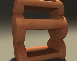 3D Wooden Bedside Table