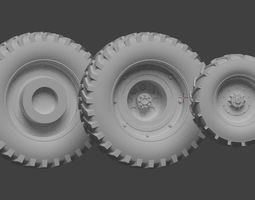 Mad Max Gigahorse wheels 3D print model