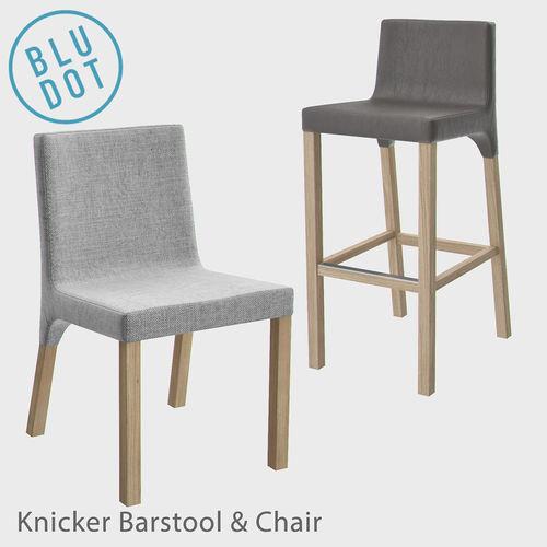 blu dot knicker barstool and chair 3d model max obj mtl fbx 1