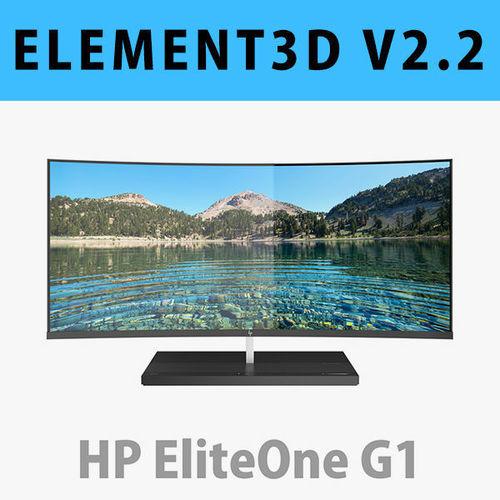 e3d - hp elite one 1000 g1 aio 34 inches model 3d model max obj mtl c4d 1
