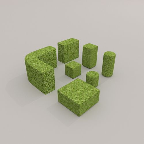 Low Poly Hedge Collection3D model