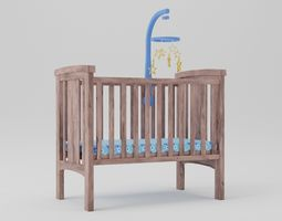 3D model Crib and Mobile