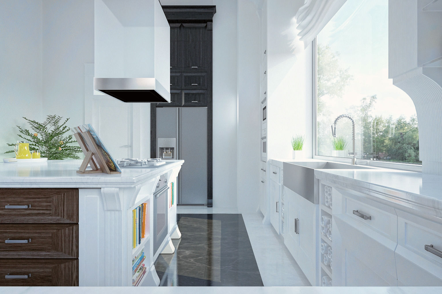 Royal kitchen design interior 3D model MAX