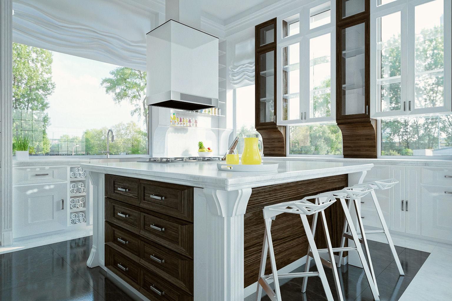 Royal Kitchen Design Interior 3d Model Max 2