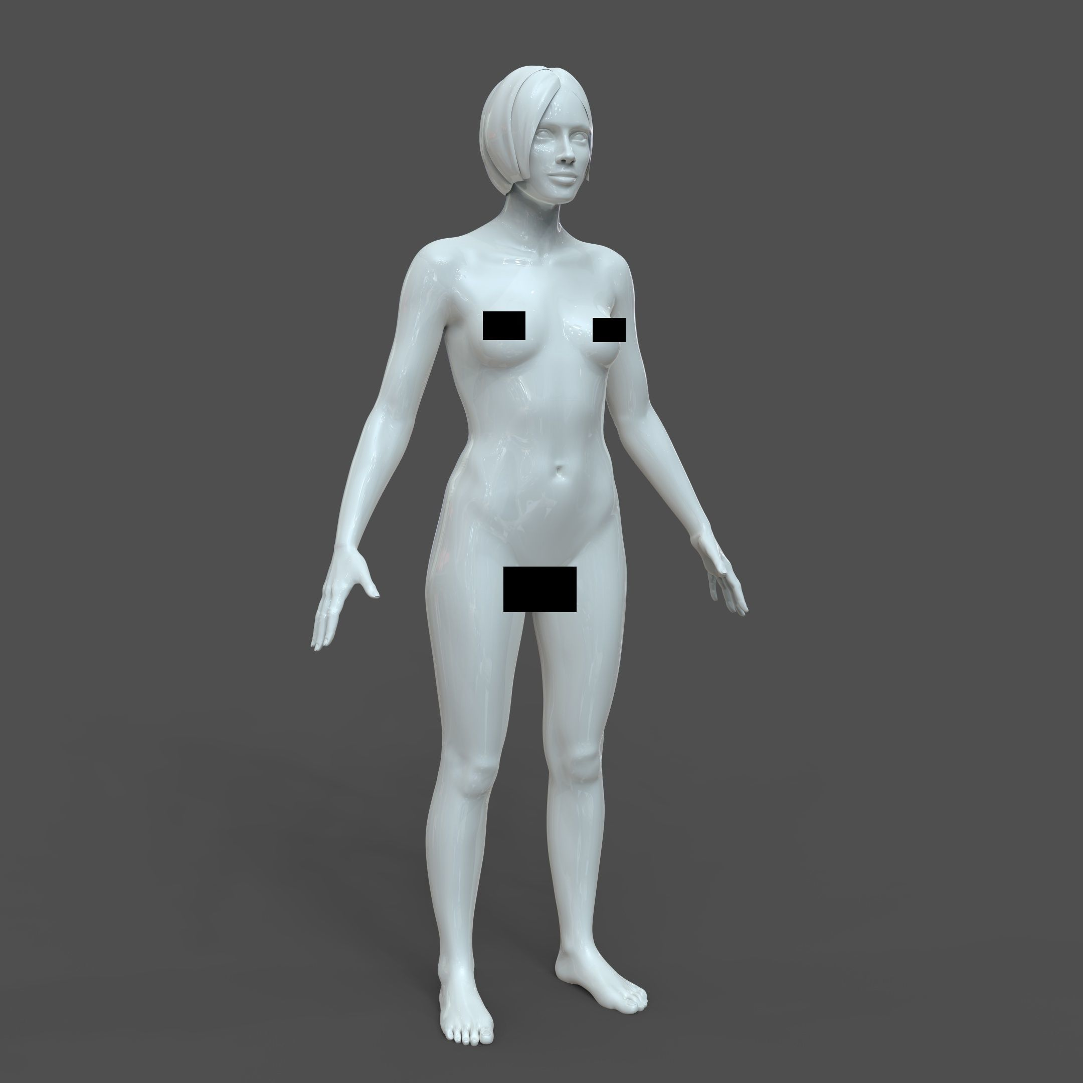CAD Realistic Casual Woman Model with genital details F1P1D2V1