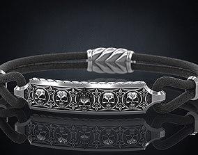 3D printable model Bracelet with skulls under the skin 2
