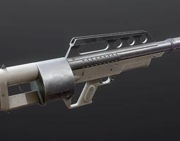 3D asset rigged Pancor Jackhammer Shotgun