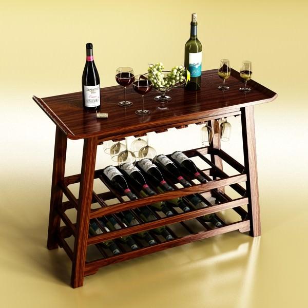 Wine Table Rack 2 Model Max Obj Mtl S Fbx Mat