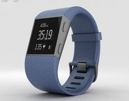 Fitbit Surge Blue 3D model