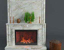 Fireplace 3D model design