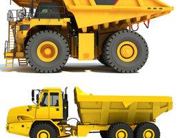 3D model Heavy Duty Dump Trucks