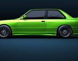 BMW M3 e30 1991 3D Model