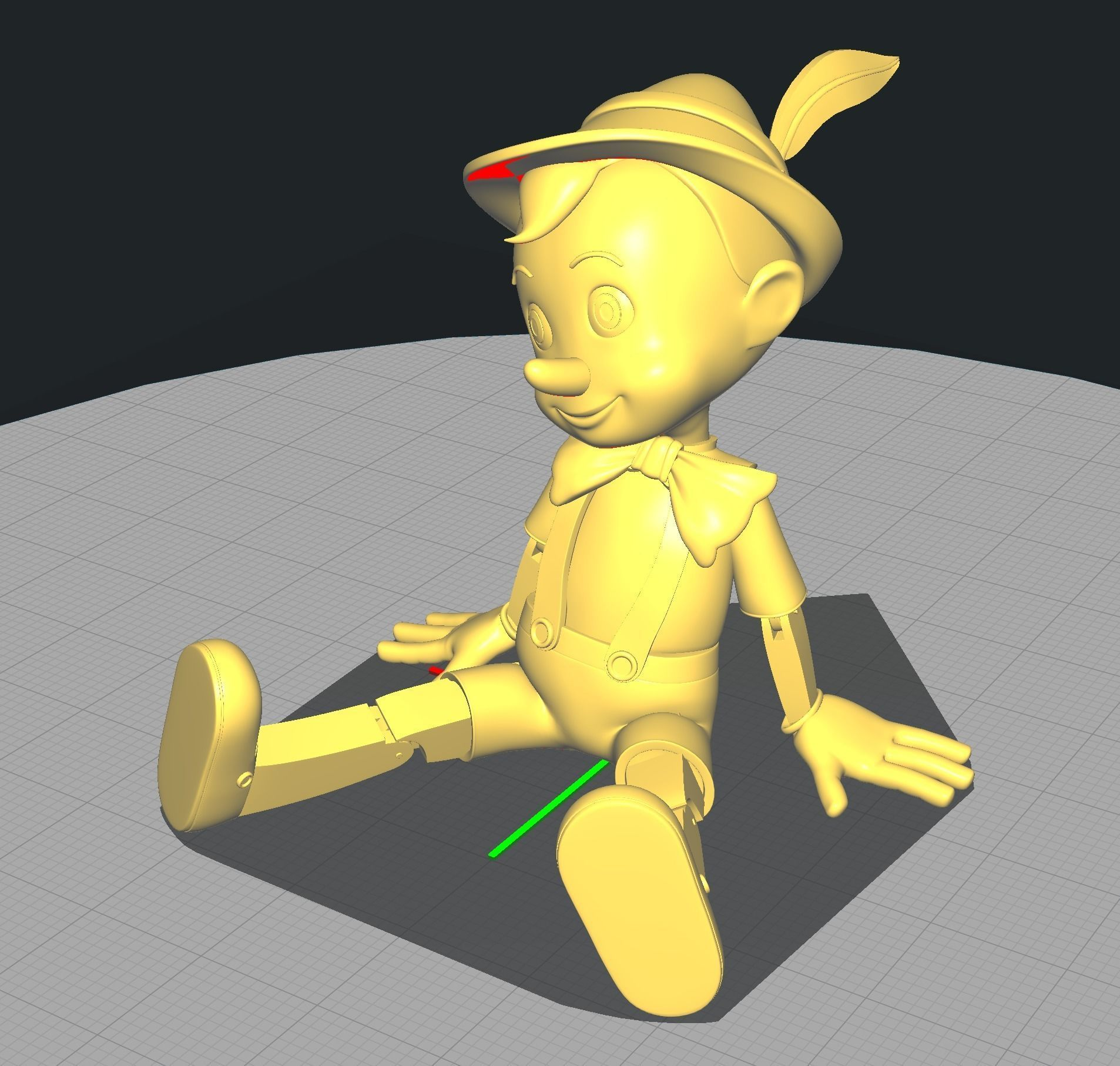 Pinocchio Seated