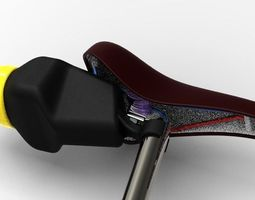 Bike Saddle Storage Case Flexible 3D Model