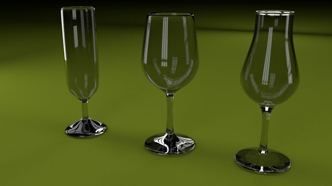 glasses 3d model blend 1