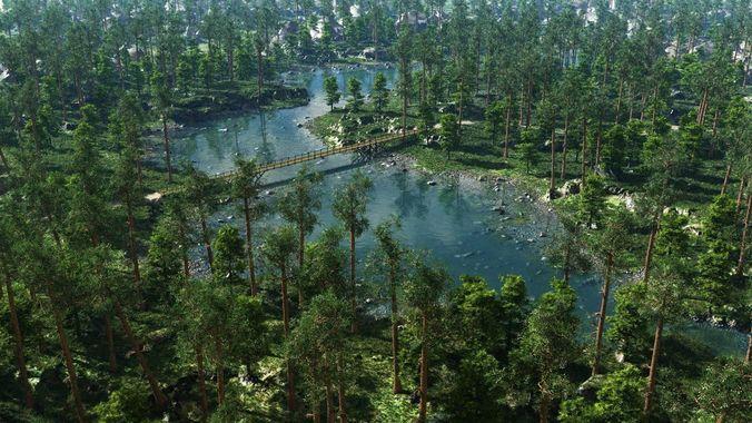 river bays in vue 3d model vue 1