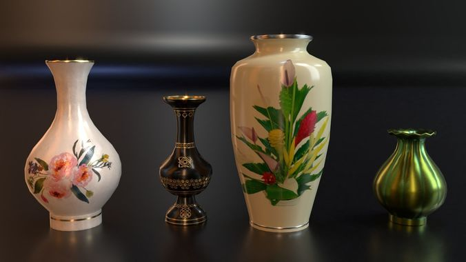 Pbr Vintage Decor Vases 3d Model Cgtrader