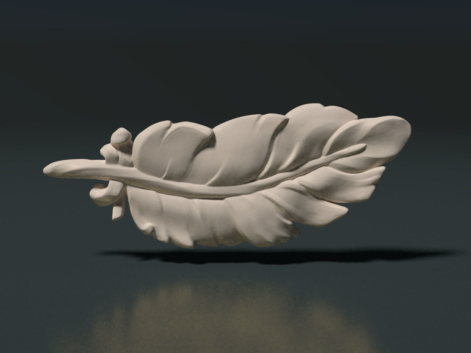 Feather high poly