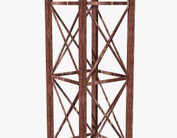 Metal Rusty Industrial Column 3D