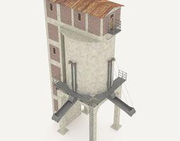 3D Concrete coal silo