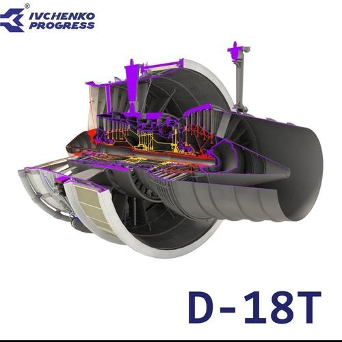 D-18T turbofan engine cutaway3D model